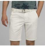 PME Legend Psh204651 7003 cotton linen dobby chino short bright white