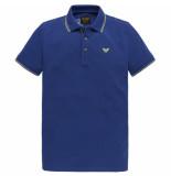 PME Legend Ppss204883 5090 short sleeve polo stretch pique mazarine blue