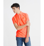 Superdry Polo m1110014a vintage destroyed mcq hyper coral -