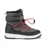 Moon Boot Junior boy boot wp black dark gray-schoenmaat 33