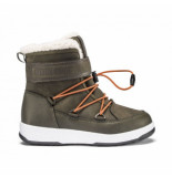 Moon Boot Junior boy boot wp olive green orange groen