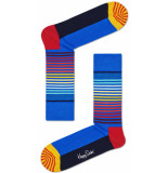 Happy Socks half stripe blauw