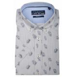 Bos Bright Blue Korte mouw blouse 106670/831