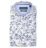 Bos Bright Blue Korte mouw blouse 106670/828