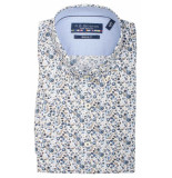 Bos Bright Blue Korte mouw blouse 106670/607