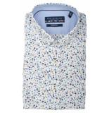 Bos Bright Blue Korte mouw blouse 106670/622