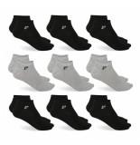 Pierre Cardin 9 paar sneaker sokken /grijs zwart