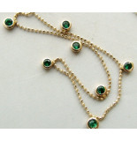 Christian 14 karaat gouden collier met smaragd