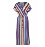 Freebird Multi-stripe-vis-01 tara midi dress short sleeve