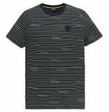PME Legend Ptss204578 5287 short sleeve r-neck single jersey melange dark sapphire