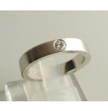 Christian 14 karaat ring met diamant wit goud