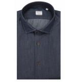 Xacus Tailored fit overhemd met lange mouwen blauw