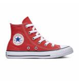 Converse All stars hoog (mt 27 t/m 35) rood