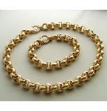 Christian 18 karaat gouden collier en armband geel goud