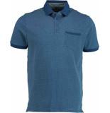 Bos Bright Blue Till polo pique all over prin 19108ti35sb/240 blue blauw