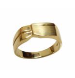 Christian Gouden cachet ring