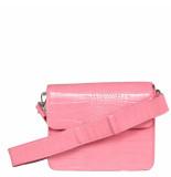HVISK Cayman shiny strap bag roze