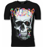 Enos T-shirt met schedel t-shirt korte mouw