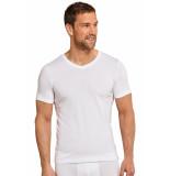 Schiesser T-shirt v-hals korte mouw 155630-100 white