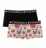 Muchachomalo Ladies 2-pack short ccat zwart