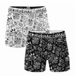 Muchachomalo Boys 2-pack shorts iconic art