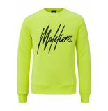 Malelions Crewneck signature geel
