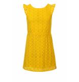 Looxs Revolution Geel zomerjurkje broderie anglaise voor meisjes in de kleur