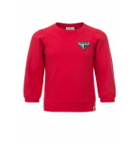 Looxs Revolution Rode sweater met pofmouw voor meisjes in de kleur
