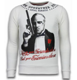 Local Fanatic Godfather rhinestone sweater