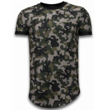 Justing Camouflaged fashionable t-shirt long fit