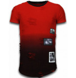 Justing Pictured flare effect t-shirt long fit