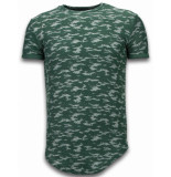 Justing Fashionable camouflage t-shirt long fit