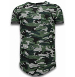 Justing Assorted camouflage t-shirt long fit camo shirt chest pocket