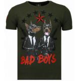 Local Fanatic Bad boys pinscher rhinestone t-shirt