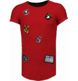 Justing Military patches t-shirt