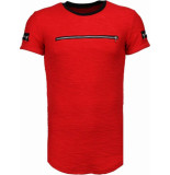 Justing Zipped chest t-shirt