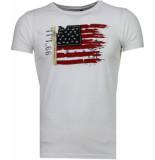 Bread & Buttons Usa vlag borduur t-shirt