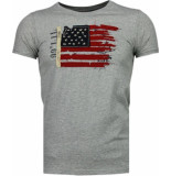Bread & Buttons Usa vlag borduur t-shirt