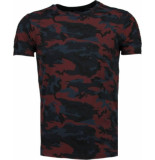 Tony Backer Camouflage ribbel t-shirt
