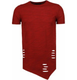 Tony Backer Sleeve ripped t-shirt rood