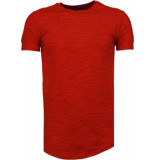 Tony Backer Sleeve ribbel t-shirt rood