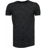 Tony Backer Sleeve ribbel t-shirt zwart