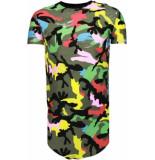Justing Kleur leger print t-shirt