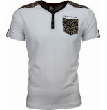 David Copper T-shirt tijger print motief wit