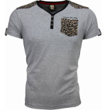 David Copper T-shirt tijger print motief