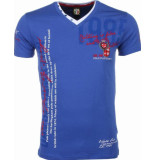 David Copper E t-shirt korte mouwen blauw
