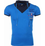 David Copper E t-shirt korte mouwen sjaalkraag