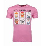Local Fanatic Tshirt my heroes roze