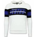 Enos Sweater met capuchon striped hoodie