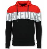 Enos Striped hooded sweat-shirt hoodie met capuchon